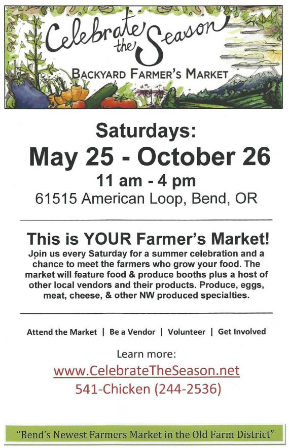 Saturday Farmer's Market